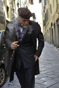 scarf, beret, dare I say that even the cigarettello's not overkill, style at any age!