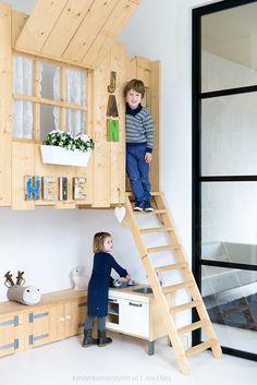 (^o^) Kiddo (^o^) Lofty ~ Kids Loft Bed - Een speelhut in huis_