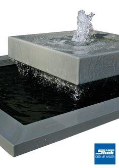 quellstein*sprudelstein*wasserspiel*naturstein*granit*würfel, Garten und Bauen