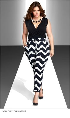 Plus Size Chevron Print Skirt with Asymmetrical Hem