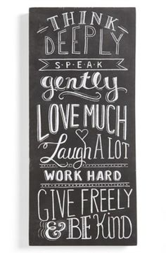 Primitives by Kathy 'Think Deeply' Chalk Sign | Nordstrom
