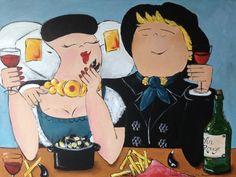 De KunstenaarZ Delta Works, Funny Paintings, Fat Art, Little Island, Happy People, Cute Illustration, Illustrations, Graffiti, Disney Characters