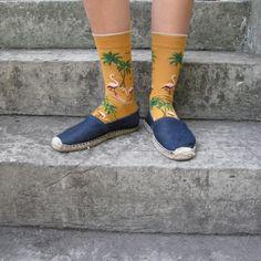 Chaussettes Bonne Maison / Bonne Maison socks - Flamants Miel