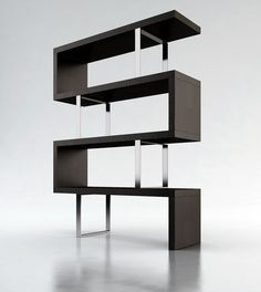 Pearl Bookcase by  Modloft #design #pin_it @mundodascasas See more here: www.mundodascasas.com.br