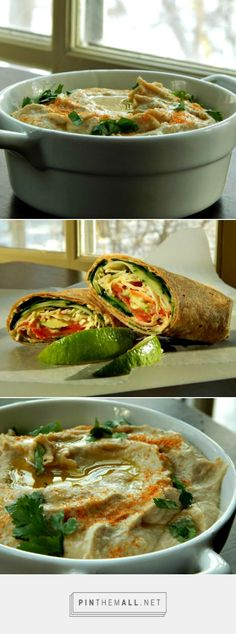 Make Your Own Hummus & Vegetarian Wraps | Frugal Hausfrau - So many ways to use and flavor Hummus and it's so EASY to make!