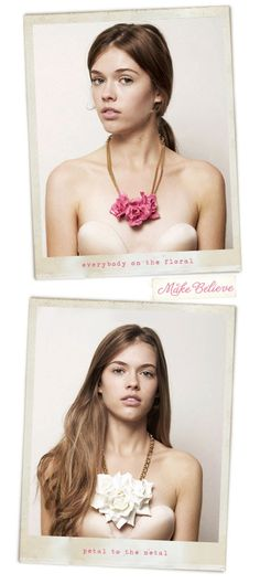 Floral necklace: by Make Believe
