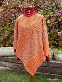 woven poncho / sweater