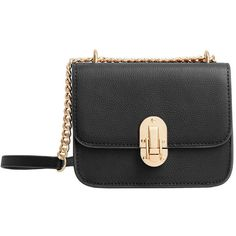MANGO Cross-Body Small Bag (275 SEK) ❤ liked on Polyvore featuring bags, handbags, shoulder bags, chain crossbody, chain shoulder bag, studded shoulder bag, crossbody shoulder bags and long handbags