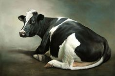 Sold | Sien the Cow, oil/panel 24 x 36 inch (60 x 90 cm) © 2010 Klimas