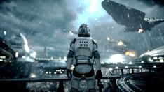 """Ark3ros Captures on Instagram: """"~ Fighting a war tests a soldier's skills, defending his home tests a soldier's heart. The battle above Kamino. Something we don't pay…"""""""