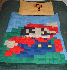 little mario bed by sewing punzie, via Flickr