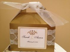 Gold Wedding Guest Welcome Box by GoodieBagPartyFavors on Etsy, $5.50