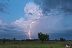 Staccato Blue - Twilight thunderstorm south of Darwin NT Australia.