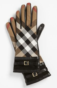 Burberry 'House Check' Gloves -ladies...don't wait-these always sell out quickly!
