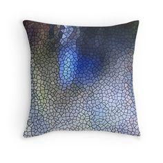 Blue Mosaic Pattern pillow. Home decor decorative pillows by Spieklyart Redbubble Shop #mosaics