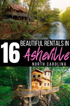 Looking for fun places to stay in Asheville? These unique Airbnbs in Asheville are the perfect base for your exploring! We've listed Treehouses near Asheville, Family Homes near Asheville, and Couples Retreats near Asheville! #asheville #NC #travel