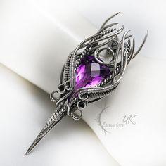 ESEHSHIAEL - silver and amethyst by LUNARIEEN.deviantart.com on @DeviantArt