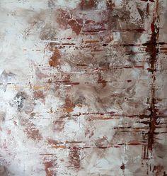 In My Studio... Painting // Chocolat - Peinture au motif simple de fines lignes horizontales.