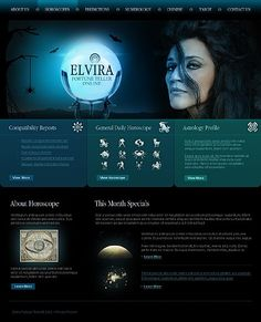 Elvira Psycards Website Templates by Delta Joomla Templates, Fortune Teller, Palmistry, Website Template, Astronomy, Horoscope, Zodiac Signs, Zodiac Constellations, Horoscopes