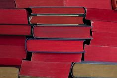 Anouk Kruith - Giant Book Wall #books #red #color