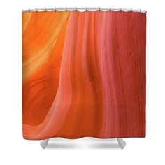 Orange Magic 10 by Elena Chukhlebova #showercurtain #orange #bathroomdecor #antelopecanyon #antelope #canyon #bathroomdecor #accent #bathroomaccent #nature #photo #elenachukhlebova #USA #America #homedecor