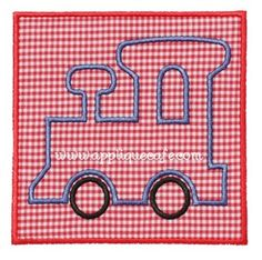 Train Patch Applique Design