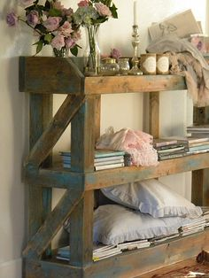 custom shelving unit in entry from Simply Me--like very much