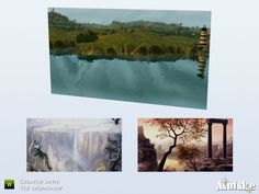 Part of the Aspen Living. Environment 4. Made by Mutske@TSR.  Found in TSR Category 'Sims 4 Paintings & Posters'