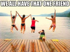 We All Have That One Friend quotes quote friends jokes friendship quotes funny quotes funny sayings humor. I would so be that one friend haha😂 I Smile, Make Me Smile, Haha, Whatsapp Videos, Friend Jokes, Funny Friend Quotes, Best Friends Funny, Quote Friends, Real Friends
