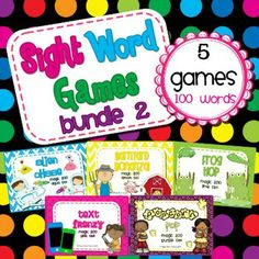 All 5 of my sight word games in one download! By purchasing this bundle you save 20% off the individual price.