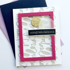congratulations | Card Sketch #47 / Открытка по Скетчу #47 | Falling Into Cardmaking