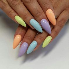 Classy Chic Nail Art Design For Summer 07 Spring Nail Colors, Spring Nails, Summer Nails, Cute Nails, Pretty Nails, My Nails, Nail Swag, Chic Nail Art, Yellow Nails Design