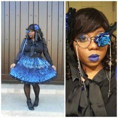 #lolitafashion #gothiclolita Lolita Goth, Estilo Lolita, Lolita Dress, Afro Punk Fashion, Lolita Fashion, Harajuku Girls, Harajuku Fashion, Black Girls Rock, Black Girl Magic