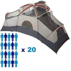 Your leisure time can be used for outdoor activities such as camping and backpacking. Best Tents For Camping, Cool Tents, Tent Camping, 20 Person Tent, Tree Tent, Tent Reviews, Cabin Tent, Ozark Trail, Shade Trees