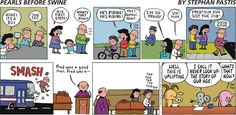 This #PearlsBeforeSwine comic is as profound as it is funny because tech controls us as much as we control it. Master technology at CBC123-https://cbc.ed4online.com/career-course/computer-basics-digital-literacy