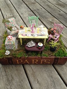 Miniature Fairy Tea Party Miniature Mad Hatter by LovingBlossoms