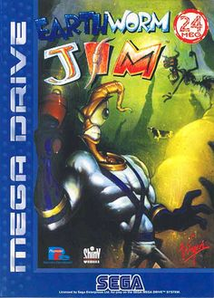 Earthworm Jim Mega Drive by Shiny Entertainment & Playmates Interactive Entertainment