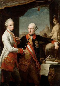 Pompeo Batoni - Emperor Joseph II with Grand Duke Pietro Leopoldo of Tuscany - Google Art Project.jpg