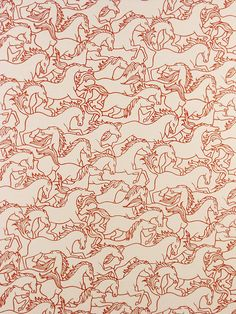 Florence Broadhurst horse wallpaper