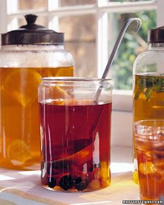 When even boiling water raises a sweat, brew refreshing iced tea in the refrigerator. Fill a glass jar or pitcher with cold water and a few bags of your favorite tea, and let them steep in the icebox overnight.