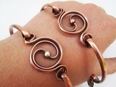 balance bracelets- copper silver yin yang bracelets- raw copper bracelet- the tima collection