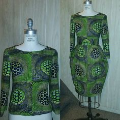 The T U L I P African Print Skirt shown with the by LiLiCreations