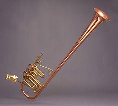 Bb cornet (Robb Stewart 1988) - Over-the-shoulder configuration