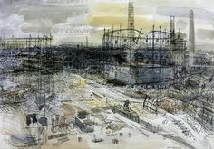 Anthony Gross 'Final Stages of the German War: Krupp's Works at Essen', 1945