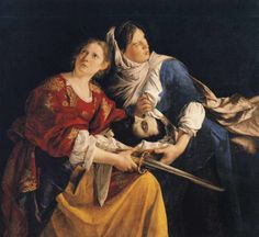 Orazio Gentileschi, Judith and her Maid Servant with the Head of Holofernes, 1621-24