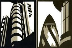 Paul Catherall - prints inspired by art deco poster adverts Cityscape Art, Architectural Prints, Design Research, Architecture Drawings, Environmental Art, Light In The Dark, Printmaking, Pattern Design, Print Patterns