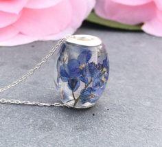Forget me not bead european bead charm bracelet resin bead