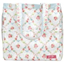 Beachbag Doris white 33x34x15 cm