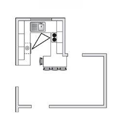 plan de cuisine en u avec comptoir pour les repas marie claire maison
