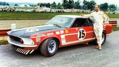 Parnelli Jones - Ford Mustang Boss 302 - Bud Moore Engineering - SCCA Trans American Championship Mid-Ohio - 1969 Trans-Am, round 3